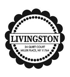 The Livingston Scallop Round Self-Inking Stamp