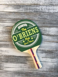 Customized The O'Brein's Ping Pong Paddle