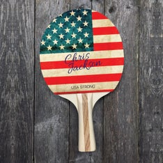 Customized The Washed Out US Flag Ping Pong Paddle