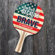 Customized Land of the Free Ping Pong Paddle