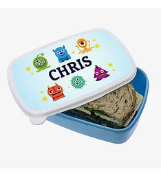 Personalized Little Monsters Plastic Lunch Box