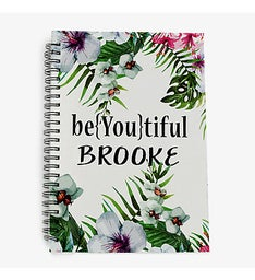 BeYoutiful Floral Personalized Spiral Notebook