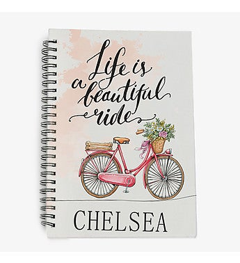 Life Is A Beautiful Ride Personalized Notebook