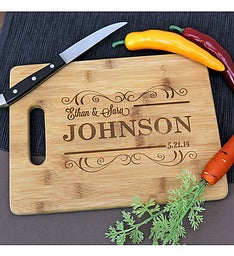 Engraved Scroll Cutting Board