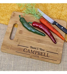 Engraved Couples Cutting Board