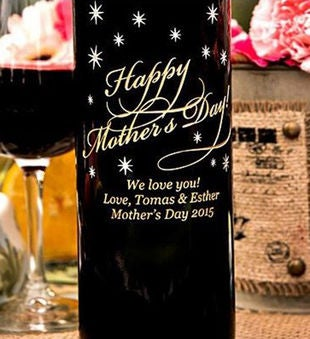 Classic Happy Mother's Day Personalized Wine Bottle