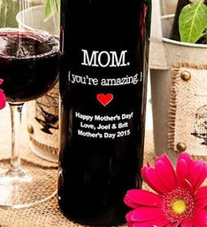 Mom Youre Amazing Personalized Wine Bottle