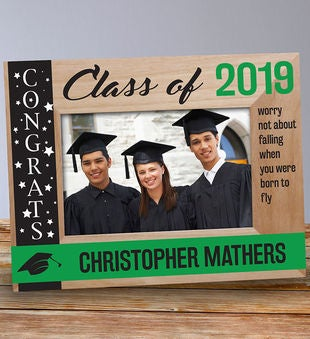 Engraved Congrats Class Of...Wooden Picture Frame