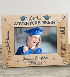 Engraved Let The Adventure Begin Wood Frame