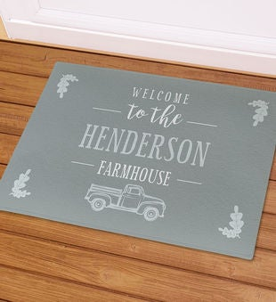 Personalized Welcome to the Farmhouse Doormat
