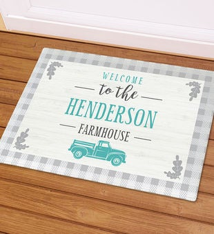 Personalized Welcome Truck Doormat