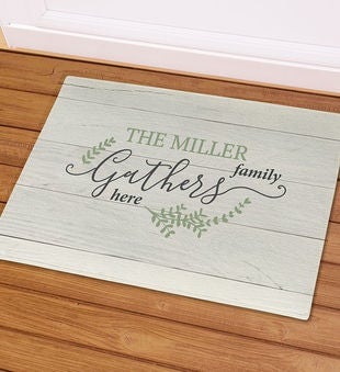 Personalized Family Gathers Doormat