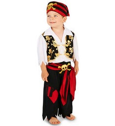 Skull Print Vest with Pants Pirate Toddler Costume