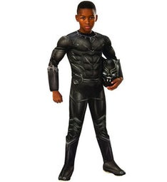 Deluxe Muscle Chest Kids Black Panther Costume