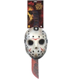 Jason Machete and Mask Costume Set