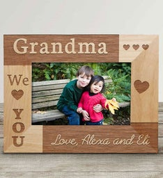 Personalized Grandparents Wood Frame