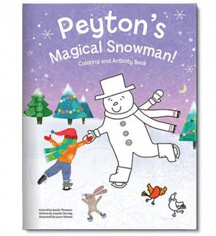 My Magical Snowman Personalized Coloring Book