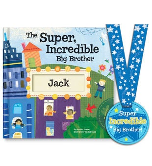 The Super,Incredible Big Brother Storybook & Medal