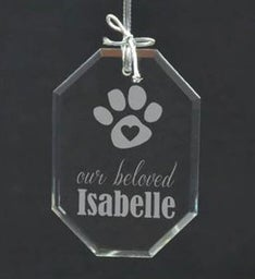 Personalized Beloved Dog Ornament