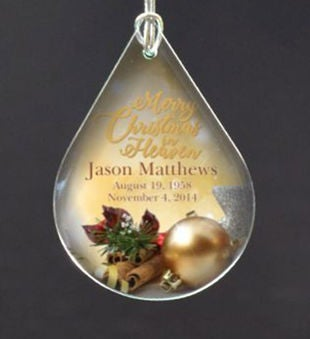 Personalized Merry Christmas In Heaven Ornament Personalization Universe