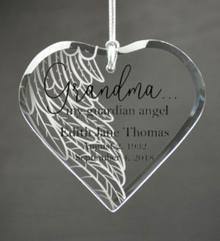 Personalized Grandparent Guardian Angel Ornament