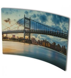 Personalized Curved Metal Print