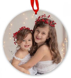 Personalized Round Metal Ornament
