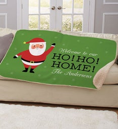 Personalized Ho Ho Home Blanket