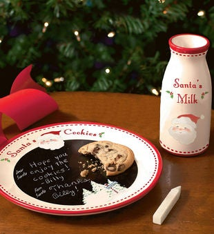 Personalized Santa's Message Plate