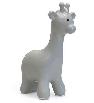 Personalized Gray Giraffe Piggy Bank