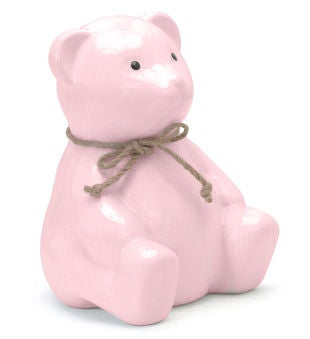 Personalized Teddy Pink Bear Piggy Bank