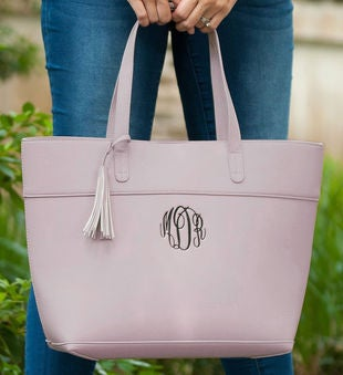 Personalized Blush Aubrey Purse