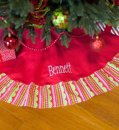 Personalized Jolly Tree Skirt