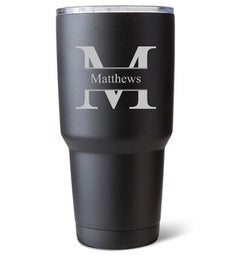Personalized Insulated 30 Oz Black Matte Tumbler