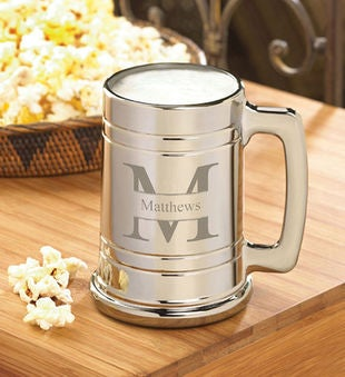 Personalized 16 Oz. Gunmetal Beer Mug