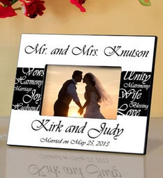 Personalized Frame - Mr And Mrs Wedding Picture