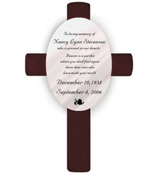 Personalized Memorial Cross