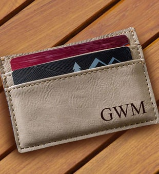 Personalized Money Clip And Wallet