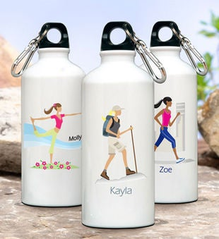 Personalized Go-Girl Water Bottle