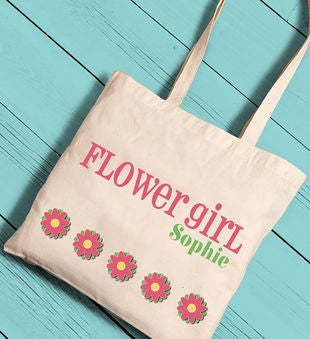 Personalized Girl Canvas Tote