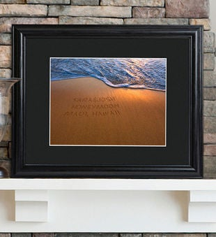 Personalized Sparkling Sands Sign W/ Wood Frame