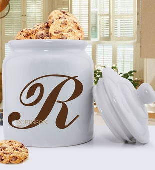Personalized Monogrammed Family Initial Cookie Jar