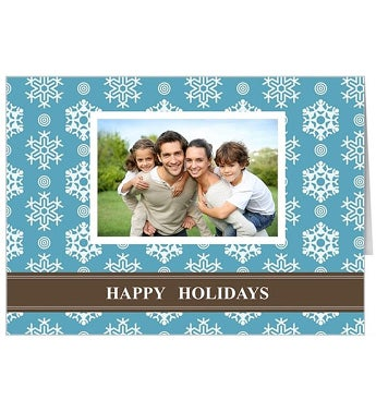 Personalized Flurry GC Folded Card