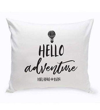 Personalized Adventure Throw Pillow