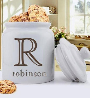 Personalized Ceramic Family Initial Cookie Jar