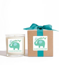 Personalized Sweet Baby Boy Candle