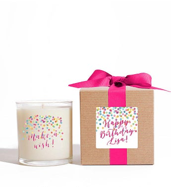 Personalized Make a Wish! Candle