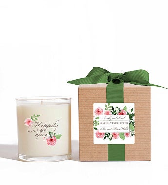 Personalized Happily Ever After Candle