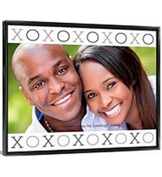 XO Means Love Framed Canvas