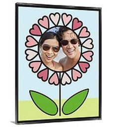 Personalized Love In Bloom Framed Canvas